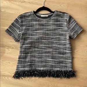 Zara Tweed T-Shirt